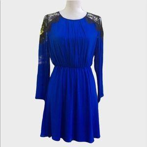 Alice + Olivia Cobalt Silk Dress